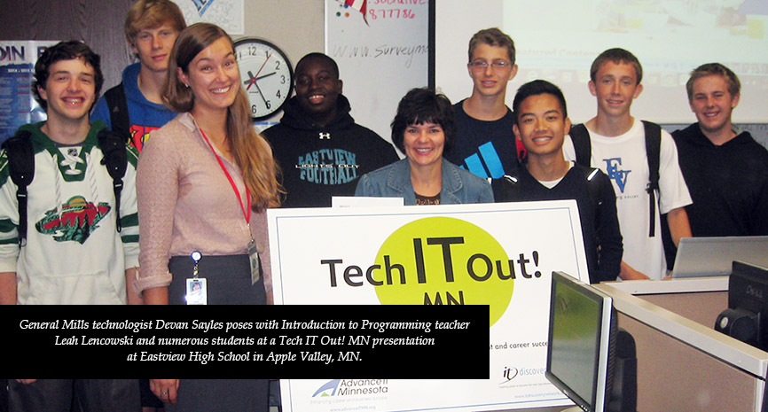 Tech IT Out! MN connects with Apple Valley's Eastview High School