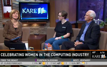 KARE 11 TV talks Aspirations in Computing IT Awards for Teen Girls with Advance IT Minnesota