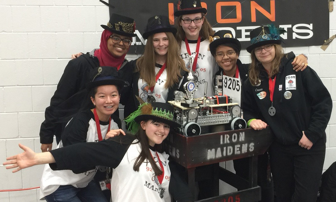 SPARCS/Aspirations News: 'Iron Maidens,' Apple Valley H.S. Robotics Team, earns 'Inspire Award' at Dec. 13 competition
