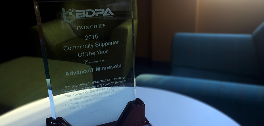 BDPA names Metropolitan State University & Advance IT Minnesota 2015 Community Supporter of the Year