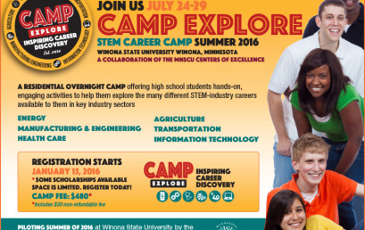 Camp Explore 2016 Registration Now Open!