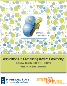 2018 Minnesota Aspirations in Computing Award Ceremony Program