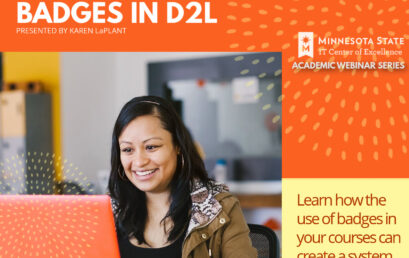 Using and Creating Badges in D2L – Free Webinar