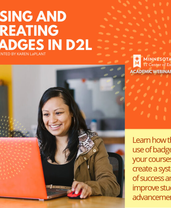 Using and Creating Badges in D2L
